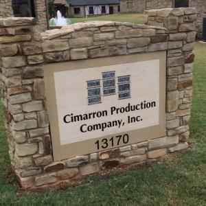 cimarron-production-granite-sign