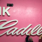 Pink Cadillac bar custom sign by granite signs
