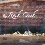Rock Creek sign by granite signs of oklahoma