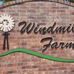 Windmill Farms sign by granite signs of oklahoma